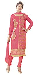 RK Exports Pink Dress Material