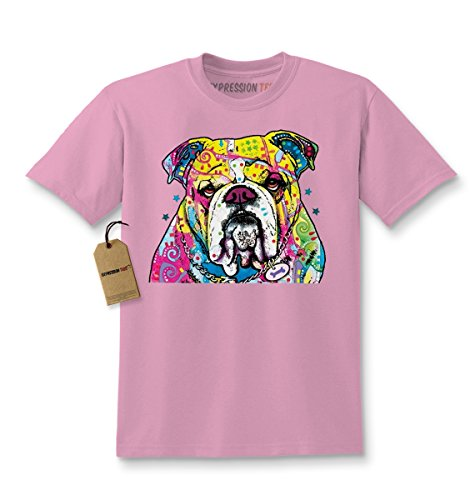 Kids Neon Bulldog T-Shirt Small Light Pink (Bulldog Shirts For Kids compare prices)
