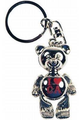California Metal Teddy Bear Keychain Case Pack