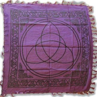AzureGreen RAC36 Purple Triquetra Altar Cloth 36 in. X 36 in.