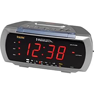 emerson cks3088t smartset dual alarm clock radio with 4 way lamp control. Black Bedroom Furniture Sets. Home Design Ideas