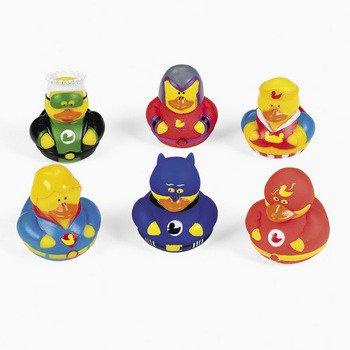 Gummiente Superhelden 6 Stück Gummi-Ente, Spritzente