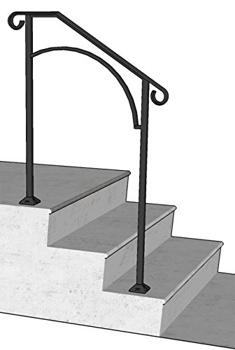 DIY Iron X Handrail Arch #2 Fits 2 or 3 Steps (Wrought Iron Railing For Steps compare prices)