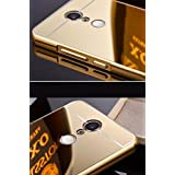 K/B Metal Bumper With Acrylic Mirror Back Cover Case For Xiaomi Redmi Note 3- (GOLD)