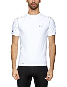 Under Armour   Hg Fitted Base SS Crew T-shirt manches courtes homme Blanc M