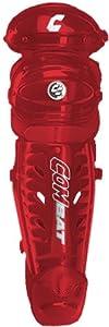 Buy Combat baseball softball catchers gear leg guards NEW Red 12 by Combat