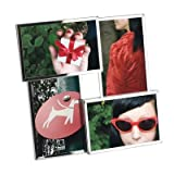 Umbra Flo Four Picture Photo Frame (H25cm x W27cm Photo Size 10cm x 15cm (4 x 6) Chrome)