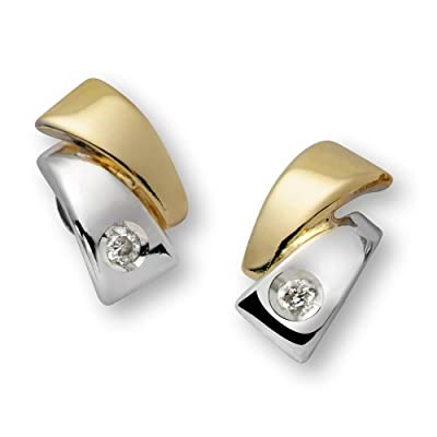 Miore-Joven 18 ct Two-Colour Gold 0.0069 ct Diamond Earrings