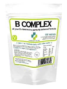 La vitamine B complexe (les neuf vitamines du groupe B); 100 comprimés