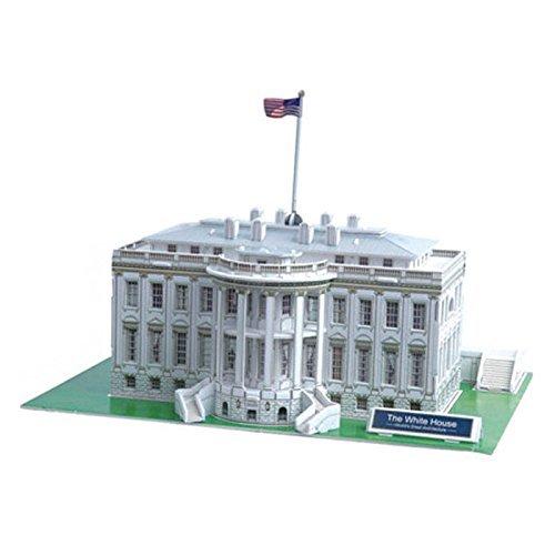 3D Jigsaw Puzzle - White House, U.S.A : Model Parts 65pcs - 1