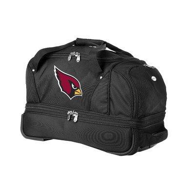 nfl-arizona-cardinals-denco-22-inch-drop-bottom-rolling-duffel-luggage-black