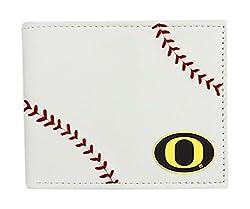 NCAA Oregon Ducks Leather Wallet, White
