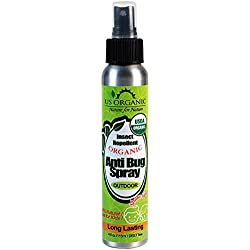 #1 Organic Bug Repellent, Certified Organic by USDA, Kid Safe, OUTDOOR use, Long Lasting, DEET Free, No synthetic chemicals, No Alcohol, Cruelty Free, No animal tested, Made in USA, 4 fl.oz.