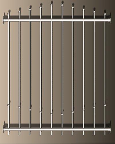 ID33 GmbH Sonderanfertigung: Fenstergitter Variante 4 - Edelstahl geschliffen rostfrei -individuell - Amazon Größe S