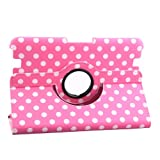 TOPCHANCES PU Leather Case Cover in 2012 Kindle Fire HD 8.9 with 360 Degree Rotating Stand and Magenetic Functions-Pink Polka Dot Decoration