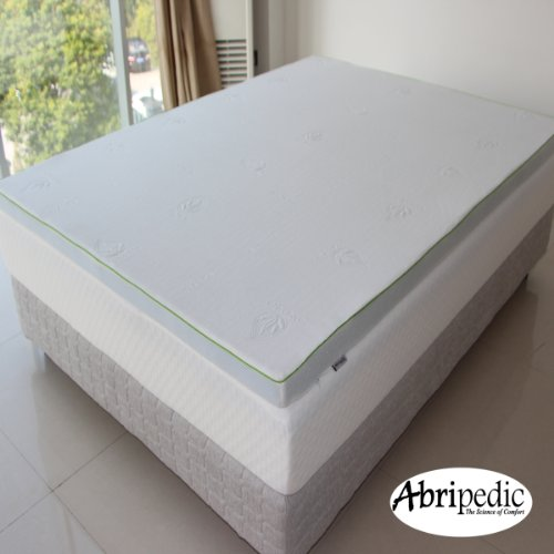"Abripedic 2.5"" Thick Gel Memory Foam Twin Extra Long Mattress Topper 3-Year Warranty By Royal Hotel"