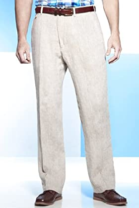 Blue Harbour Luxury Pure Linen Easy Iron Trousers [T17-2310b-S-LCTB]