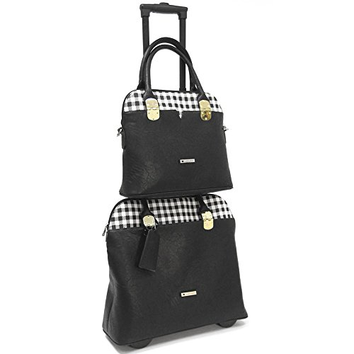 cabrelli-casey-checker-15-inch-laptop-and-work-tote-set-briefcase-black