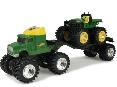 John Deere Monster Treads Semi Hauler With Gator Play Set front-1037768
