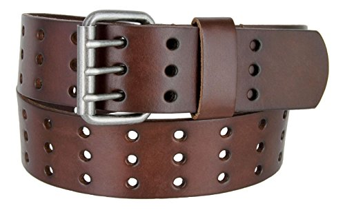 """Belts.com BS200 Three Hole Genuine Leather Casual Jean Belt-Brown 1-3/4"""" wide-44-Brown"""