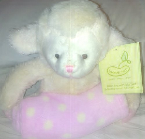 Animal And Blanket Toy And Blanket,Pink Lamb front-942806