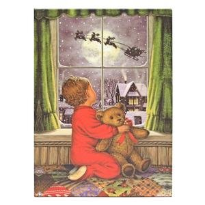 "Raz Imports 04363 - 24"" X 18"" X 1"" - ""Boy In Window"" Battery Operated Led Lighted Canvas (Batteries Not Included)"