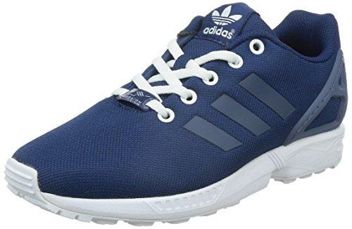 Adidas Zx Flux K Scarpe per bambini, Ragazzo, Multicolore (Oxford Blue F15-St/Fade Ink F15-St/Ftwr White), Taglia 38