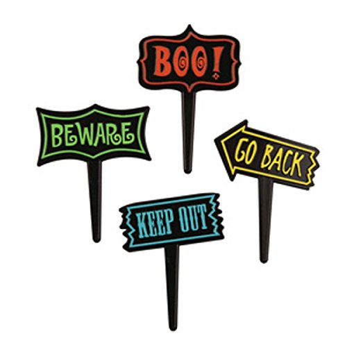 Cupcake/Cake Halloween Sign Picks