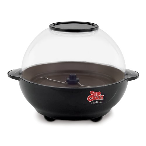 West Bend 82306 Stir Crazy 6-Quart Electric Popcorn Popper (Black Max Popper compare prices)