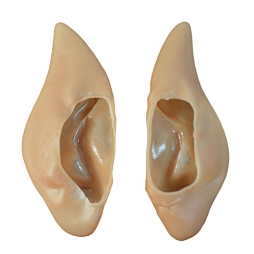 [Start 1Pair Fairy Elf Ear Cosplay Costume Ear Tips For Party & Halloween & Carnivals] (Elf Ears Halloween)