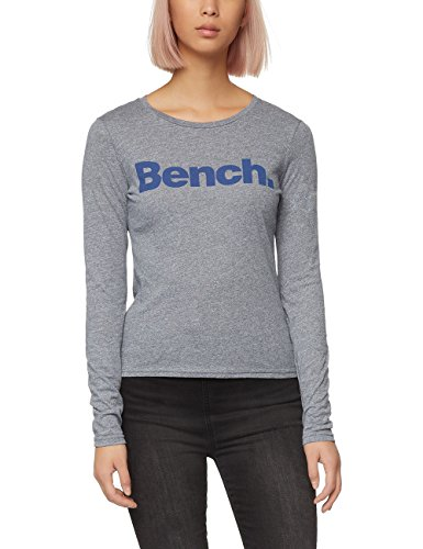 Bench Long Sleeve Corp Tee, Top Donna, Blue (Dress Blues Marl), Small