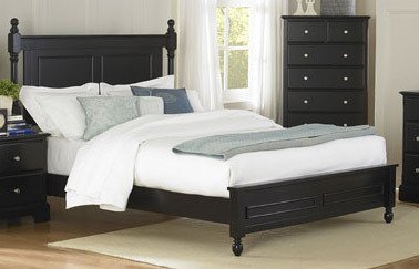 Morelle Low Post Bedroom Set (Black) By Homelegance front-1054345