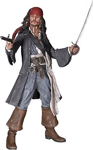 Buy Low Price NECA Pirates of the Caribbean II: Dead Man's Chest: 'Cannibal' Jack Sparrow 18-Inch Statue Figure (B000S6TJ7G)