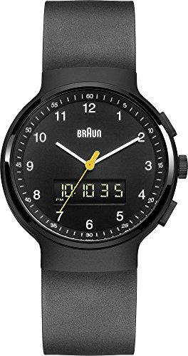 Braun - BN0159BKBKG - Montre Mixte - Quartz Analogique et digitale - Alarme/Chronomètre - Bracelet Caoutchouc Noir