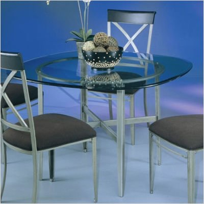 Buy Low Price Pastel Furniture Bordeaux Dining Table with 48″ Glass Top Base Finish: Autumn Rust, Table Style: Square with Round Edges, 1/2″ Thick, 1″ Bevel (BD 510-+AR 4811)