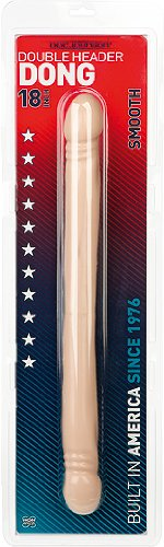 Doc Johnson – Built In America Smooth Double Header, weiß 18 inch