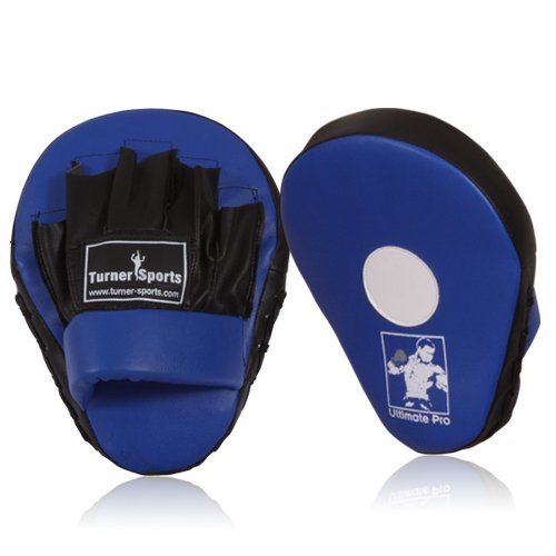 Focus Pads, Hook & Jab pads, Kick Pads, Curved Boxing Pads, Martial Arts, Blue
