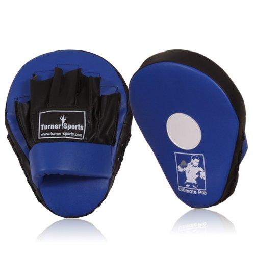 Focus Pads, Hook & Jab pads, Kick Pads, Curved Boxing Pads, Martial Arts, Blue