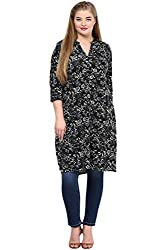 Alto Moda by Pantaloons Women's Tunic ( 205000005648303, Black, XXXX-Large)
