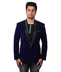Shaurya-f Blue Velvet Blazer Taxido Pattern