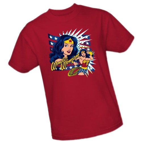 Pop Art -- Wonder Woman -- DC Comics Adult T-Shirt, Large (Wonder Woman Merchandise compare prices)