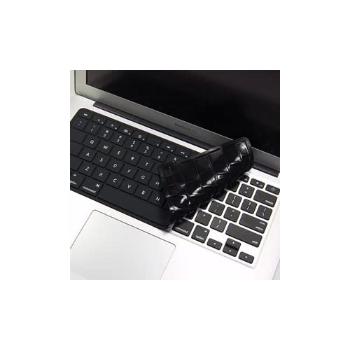 Cosmos Quality Black Solid Pure Silicone Keyboard cover skin for Macbook air 11 11.6 A1370 + Cosmos cable tie