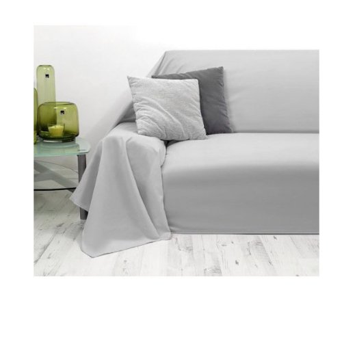 tagesdecke plaid berwurf sofa berwurf grau 210x280cm. Black Bedroom Furniture Sets. Home Design Ideas