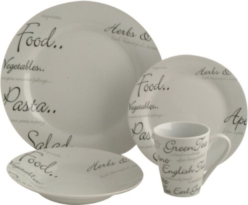 Details for Price & Kensington Script Dinner Set, 16 Piece from Rayware