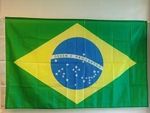 DRAPEAU BRESIL 150X90CM BRAZIL FLAG-BANDIERA-FLAGGE-BANDERA