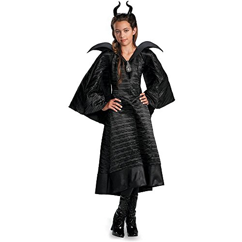 Maleficent Deluxe Christening Black Gown Kids Costume