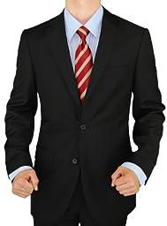 Presidential Giorgio Napoli Men\'s 2 Button Suit Separate Coat Blazer (42 Long, Black)