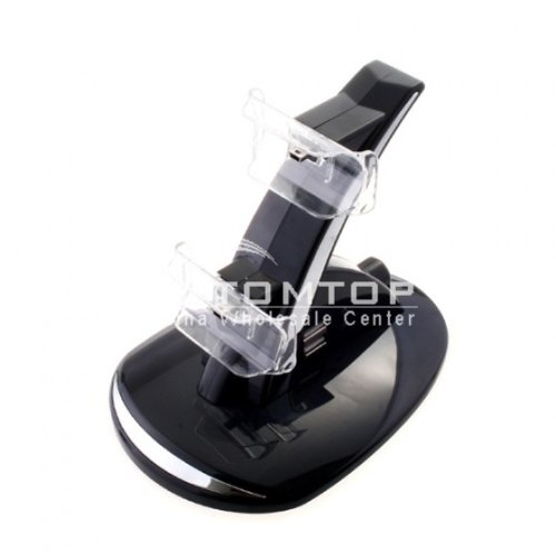 New Blue Led Dual Charger Charging Stand For Ps3 Controller By Belstaf