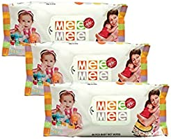 Mee Mee Caring Baby Wet Wipes with Aloe Vera (80pcs) (Pack of 3)