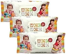 Mee Mee Baby Wet Wipes (3 Packs, 80 Sheets per Pack)